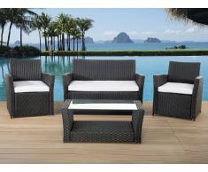 Polyrattan Gartenmöbel Set - schwarz - SORRENTO