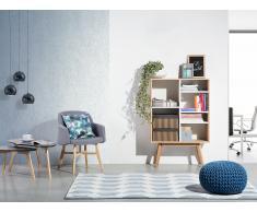 Bücherschrank heller Holzfarbton/weiss WRANGELL