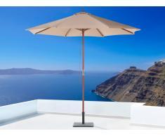 Sonnenschirm Mokka - Ampelschirm - ø 270 cm - Sonnenschutz - Holz - TOSCANA II