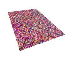 Teppich Bunt - Baumwolle - Polyester - Shaggy - Läufer - 160x230 cm - KAISERI