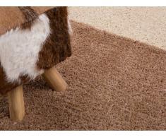 Teppich helles Beige 80 x 150 cm Hochflor EDIRNE