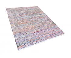 Teppich Bunt-Weiss - 160x230 cm - Baumwolle - Läufer - Wohnzimmerteppich - BARTIN