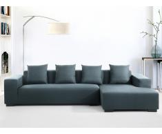 Sofa Dunkelblau - Couch - Ecksofa L - Sofalandschaft - Sofagarnitur - Stoffsofa - LUNGO
