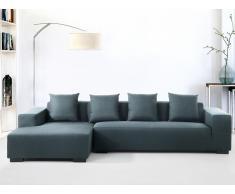 Sofa Dunkelblau - Couch - Ecksofa R - Sofalandschaft - Sofagarnitur - Stoffsofa - LUNGO