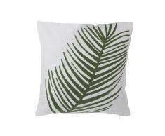 Dekokissen Palmenmotiv Baumwolle grün 45 x 45 cm AZAMI