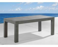 Gartentisch Beton grau 180 x 90 cm TARANTO