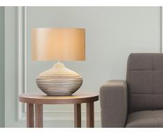 Tischlampe Braun - Leselampe - Nachttischlampe - Tischleuchte - Beleuchtung - LIMA