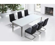 Edelstahlgarnitur - Esstisch 220 rostfrei - Stühle frei wählbar - ARCTIC II