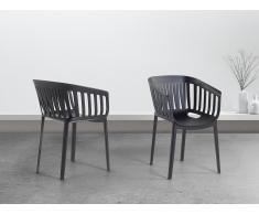 Stuhl Schwarz - Esszimmerstuhl - Gartenstuhl - Küchenstuhl - DALLAS
