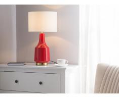 Tischlampe rot 60 cm TRIVERSA