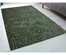 Teppich grün - 200x300 cm - Shaggy - Polyester - OREN