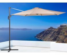 Sonnenschirm Mokka - Ampelschirm Rund ø 291 cm - Sonnenschutz - Metall - SAVONA
