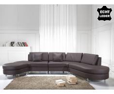 Sofa Leder braun COPENHAGEN