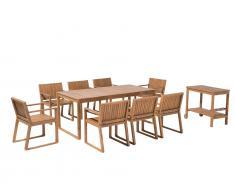 Gartenmöbel Set Akazienholz 8-Sitzer SASSARI