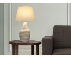 Tischlampe creme - Leselampe - Nachttischlampe - Tischleuchte - Beleuchtung - TORMES