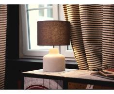 Tischlampe Grau - Tischleuchte - Nachttischlampe - Leselampe - Beleuchtung - BHIMA