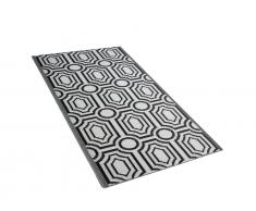Outdoor Teppich schwarz 90 x 180 cm zweiseitig BIDAR