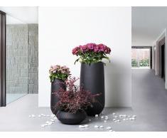 Blumenkübel schwarz rund 22 x 22 x 55 cm ANNECY