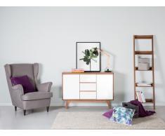 Sideboard Braun-Weiss - Kommode - Regal - Lowboard - Schrank - TV-Möbel- PITTSBURGH