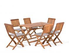 Gartenmöbel Set Holz 6-Sitzer CENTO