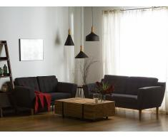 3-Sitzer Sofa Polsterbezug schwarz KUOPIO