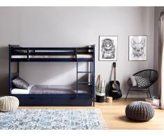 Hochbett Holz dunkelblau 90 x 200 cm RADON