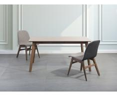 Esstisch dunkler Holzfarbton 150 x 90 cm MADOX