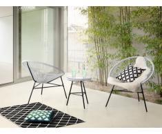 Gartenmöbel Set Kunststoff weiss ACAPULCO