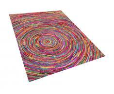 Teppich bunt 160 x 230 cm Hochflor MALATYA