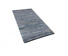 Teppich blau 80 x 150 cm Kurzflor ALANYA