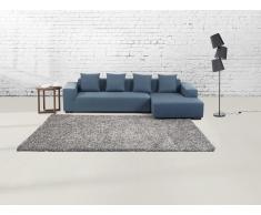 Teppich silbergrau 160 x 230 cm Hochflor ESME