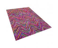 Teppich Bunt - Baumwolle - Polyester - Shaggy - Läufer - 160x230 cm - KARASU