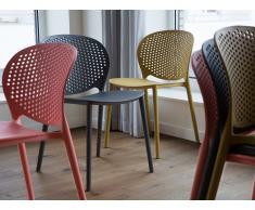 Stuhl Anthrazit - Esszimmerstuhl - Gartenstuhl - Küchenstuhl - Essstuhl - HOLMDEL