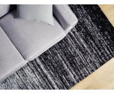 Teppich schwarz 160 x 230 cm Kurzflor KATERINI