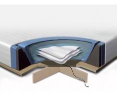 Wasserbett Matratze Set 180x200 cm - mit 2 Heizungen - Schaumstoffrahmen - Überzug - Podest - Konditionierer
