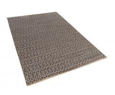 Teppich Braun-Beige - 120x170 cm - Läufer - Baumwolle - Jute - Vorlage - SILOPI