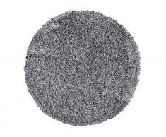 Teppich schwarz/weiss ø 140 cm Hochflor CIDE
