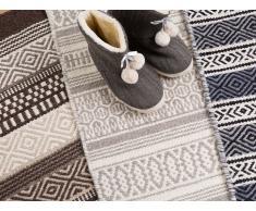 Teppich Grau - 80x150 cm - Wolle - Baumwolle - Läufer - Vorlage - PAYAS