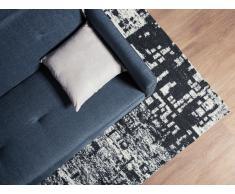 Teppich schwarz-weiß 140 x 200 cm Kurzflor DAFNI
