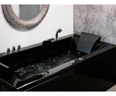 Whirlpool-Badewanne links schwarz VARADERO