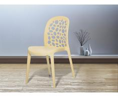 Esszimmerstuhl beige Kunststoff RUBIN