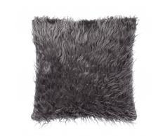 Dekokissen Felloptik grau 45 x 45 cm DAISY