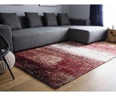 Teppich rot-beige 140 x 200 cm Kurzflor ALIMOS
