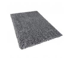 Teppich schwarz/weiß 160 x 230 cm Hochflor CIDE
