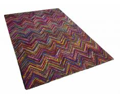 Teppich bunt 160 x 230 cm Hochflor BISMIL