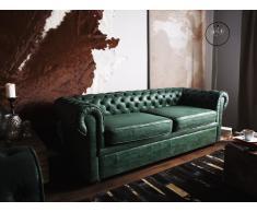 3-Sitzer Sofa Lederoptik grün CHESTERFIELD
