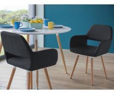 Stuhl Anthrazit - Sessel - Esszimmerstuhl - Küchenstuhl - Polsterstuhl - CHICAGO