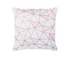 Dekokissen Netzmotiv Baumwolle rosa 45 x 45 cm CLARKIA