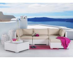 Gartenmöbel Weiss - Rattanmöbel - Polyrattan Lounge - Gartensofa - SANO