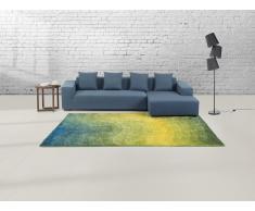 Teppich gelb-grün 200 x 230 cm Hochflor EFEZ